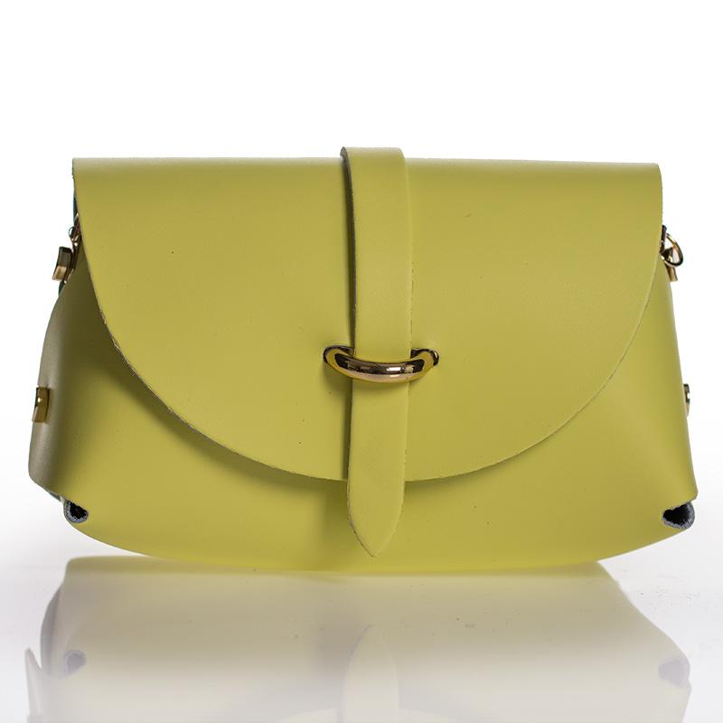 Italská dámská kožená kabelka žlutá crossbody lakovaná BR911 d617019fe2d